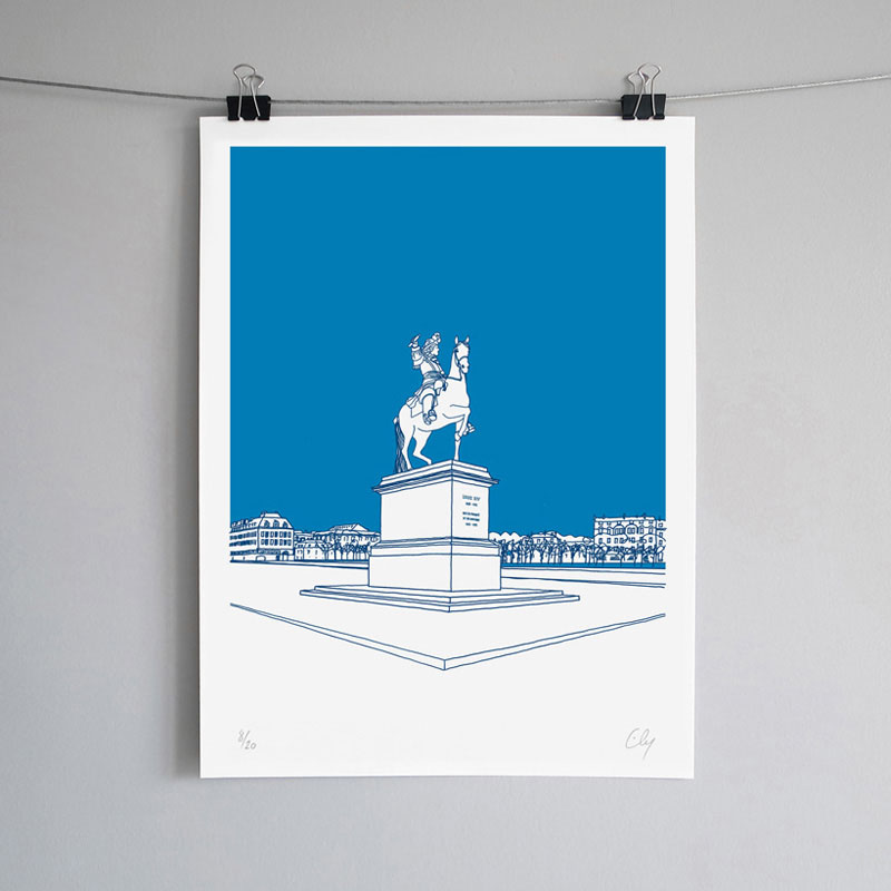 Ely Place d'armes Sérigraphie Art Versailles